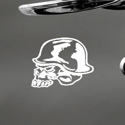 Decoration Auto Home Decor Metal Mulisha Skull Helmet Sticker Car Car Adhesive Vinyl Notebook Window Decor Vinyl White