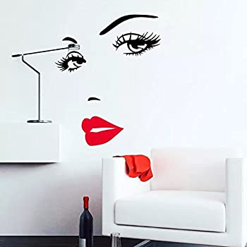 Amazoncom Hot Pink Lips Marilyn Monroe Quote Vinyl Wall Stickers - Wall decals marilyn monroe