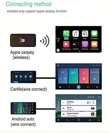 Bluetooth//Support iOS13 Split Screen//Car Stereo Carlinkit Wireless Carplay Dongle USB Adapter with Mic for Android Head Unit with Android Auto USB Smart Link Android Navigation Player
