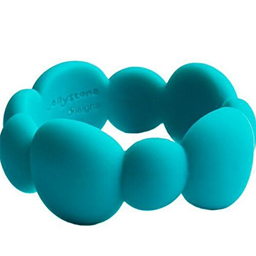 [Jellystone Pebble Bangle, Turquoise Baja Green] (Pebbles Child Costumes)