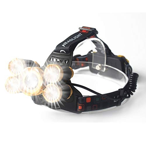 TheMonday T6+Xpe Led Head Lamp Zoomable Headlamp 5Leds Headlight Tube Torch Led Flashlight+USB Cable