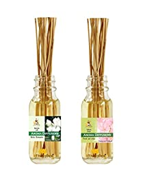 ThongDee Jasmine and Sakura Floral Reed Diffuser Oils Aromatherapy Set 30ml.