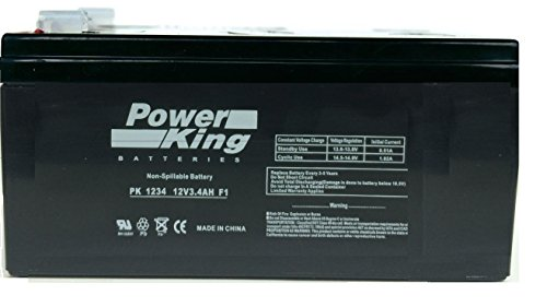 B&B BP3-12 Replacement Length 5.28 in. Width 2.64 in. Height 2.36 in 12V 3.4Ah UPS Battery Beiter DC Power