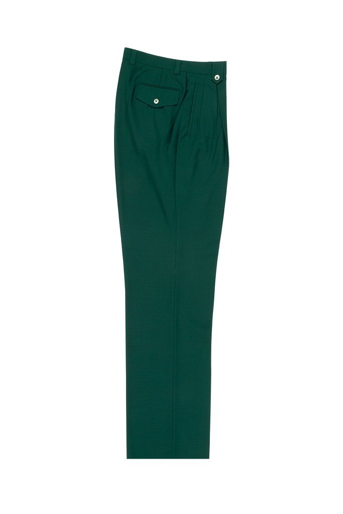 Tiglio Luxe Forest Green Wide Leg, Pure Wool Dress Pants 2576 TIG4501