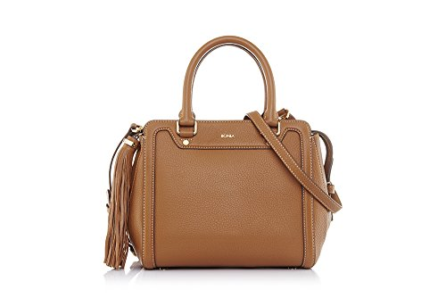 bonia-womans-brown-milled-satchel-one-size-brown