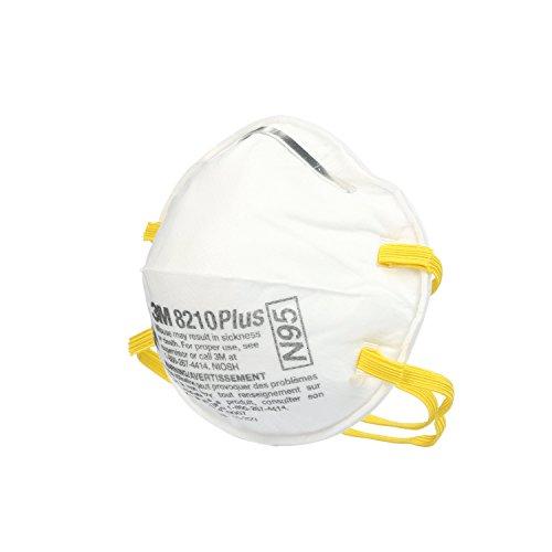 3M 8210PPB1-A-NA Plus Particulate Respirator, 20-Pack.