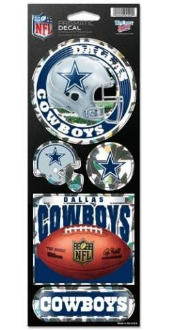 Dallas Cowboys Team Colors (NFL Dallas Cowboys Prismatic Stickers, Team Color, One Size)