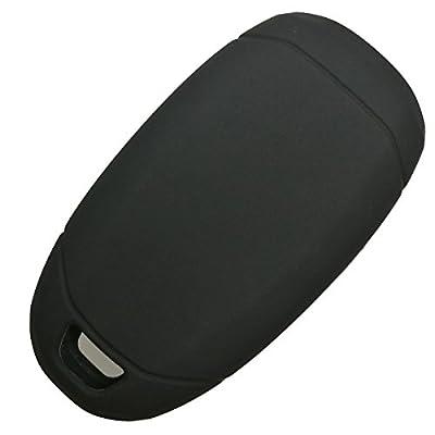 Coolbestda Rubber 4 Buttons Key Fob Cover Remote Case Keyless Protector Skin Jacket for Hyundai Kona Azera Grandeur IG Black: Car Electronics