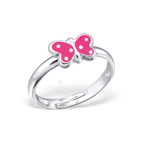 anillo con mariposa para niñas