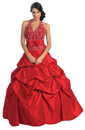 US Fairytailes Ball Gown Formal Prom Wedding Dress #2584