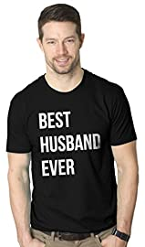 Mens Best Husband Ever Funny Wedding Marriage T shirt (Black) -L