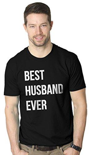 Mens Best Husband Ever T Shirt Funny T Shirts for Dad Sarcasm Wedding