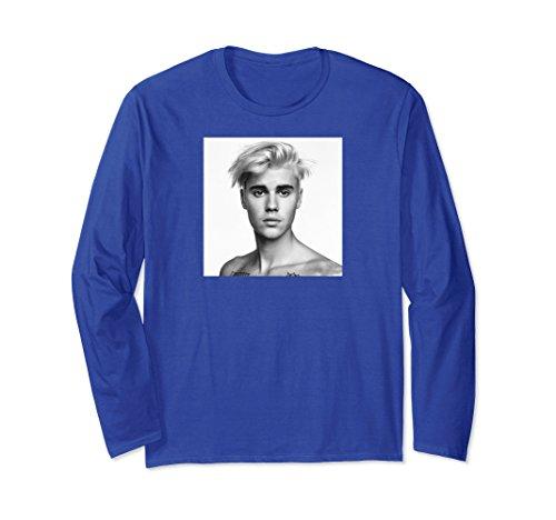 Unisex Justin Bieber Sorry Square Photo Long Sleeve T-Shirt Large Royal - Justin Blue