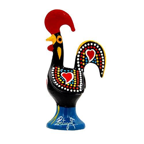 Ibergift Portuguese Aluminum Decorative Figurine Rooster Decor 3 1/4