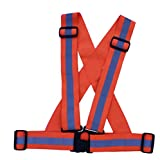 High Visibility Elastic Reflective Safety Vest Harness Jogging Belts