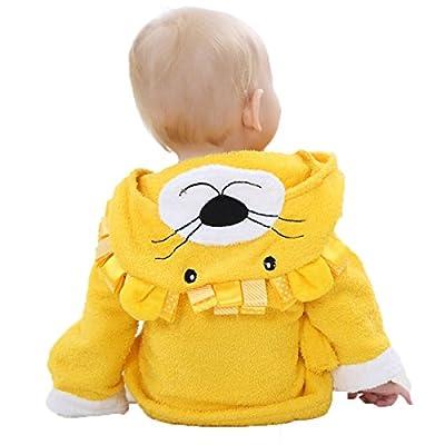 Janeyer Kids Baby Cartoon Hooded Bathrobe Warm Cotton Princess Bath Towel Cloak