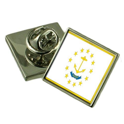 (Rhode Island Lapel Pin Badge Engraved Personalised Box)