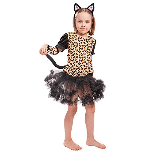 EraSpooky Girls' Leopard Costume]()