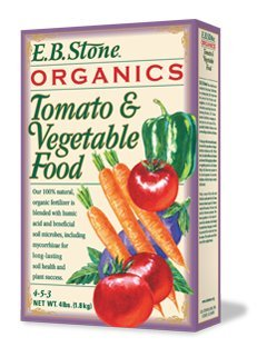 EB Stone Organic Tomato and Vegetable Food 4-5-3, 4 lbs.