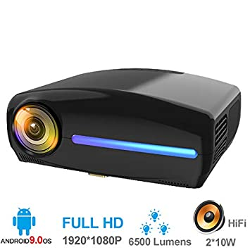 ZUEN Proyector De Vídeo Full HD 1080P Proyector LED Android 9.0 ...