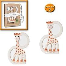 "Sophie The Giraffe Vanilla Teething Ring - ""Set of 2"" Gift Boxed"