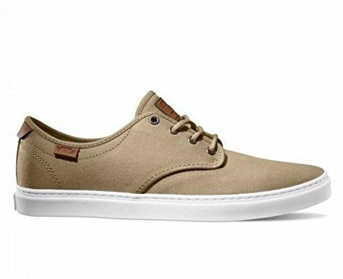 Vans Ludlow T & L Khaki Vita Mens Mode Skateboard Finskor