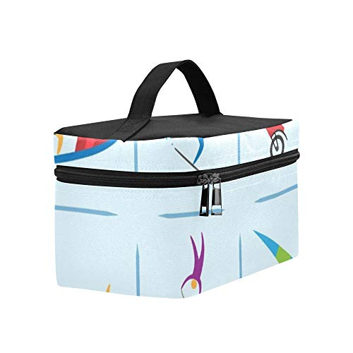 Extreme Sports Icons Diving Climbing Sailing Lunch Box Tote Bag Lunch Holder Insulated Lunch Cooler Bag For Women/men/picnic/boating/beach/fishing/school/work