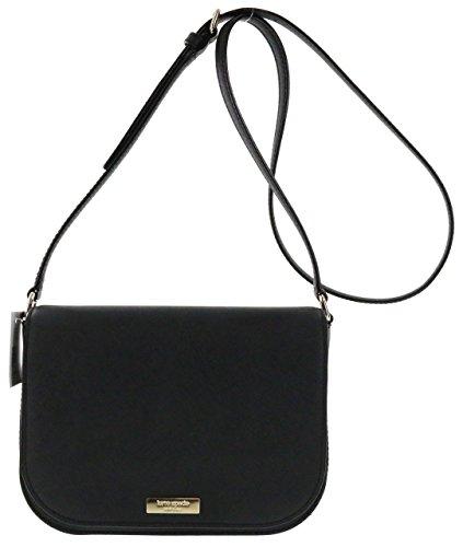 York New Leather Carsen Large Kate Black Saffiano Bag Laurel Spade Crossbody Way 8EaYWnW5f