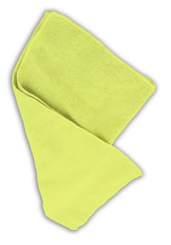Impact LFK700 Microfiber All-Purpose Cloth, 16'' Length x 16'' Width, Yellow (15 Bags of 12) by Impact Products