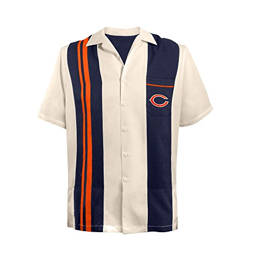 - NFL Chicago Bears Unisex NFL Bowling Shirt Spare, x Large, Navy Blue