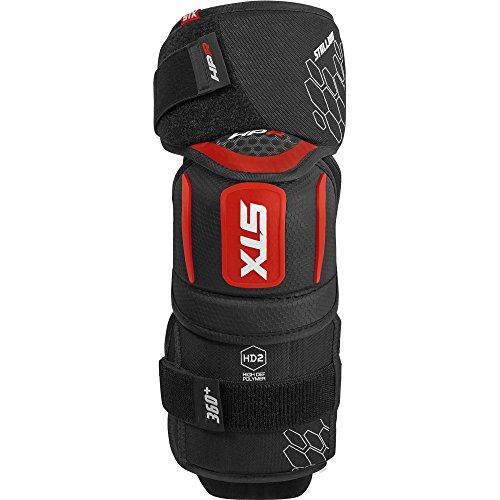 (STX Ice Hockey Stallion HPR Junior Elbow Pad, Black/Red, Large)