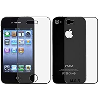 M.G.R.J 9H Hardness Front and Back Crystal Clear Tempered Glass for Apple  iPhone 4 4S 3a0ea51318