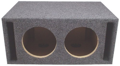"ASC Dual 12"" Subwoofer Universal Slot Vented Port Sub Box Speaker Enclosure"