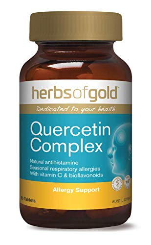 Quercetin Dihydrate Complex with Vitamin C & Bioflavonoids - Natural Antihistamine for Seasonal Respiratory Allergies & Hayfever - Antioxidant - Anti-Inflammatory - Strengthens Capillaries (Hayfever Complex)