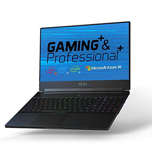 GIGABYTE AERO 15-X9-9RT4K5MP 15″ Thin Bezel UHD IPS Adobe RGB 100%, i9-8950HK, NVIDIA GeForce RTX 2070, 32GB RAM, M.2 PCIe 1TB SSD, RGB Keyboard, Win10 Pro, 94Wh Metal Chassis Ultra Slim Gaming Laptop