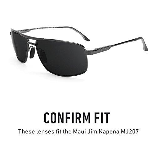 Verres de rechange pour Maui Jim Kapena MJ207 — Plusieurs options violet MirrorShield® - Polarisés