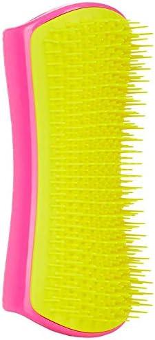 Detangling /& Dog Grooming Brush Pink And Yellow Pet Teezer
