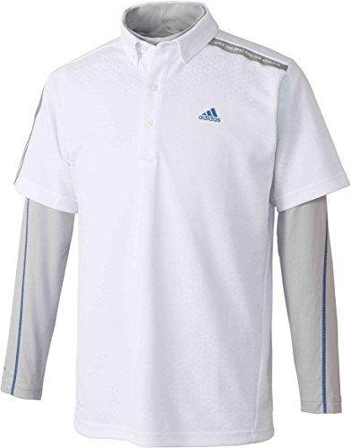 [アディダスゴルフ] ジオメトリックプリント レイヤードボタンダウンシャツ CCO17