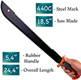 18,5 Inch Serrated blade Machete with Nylon