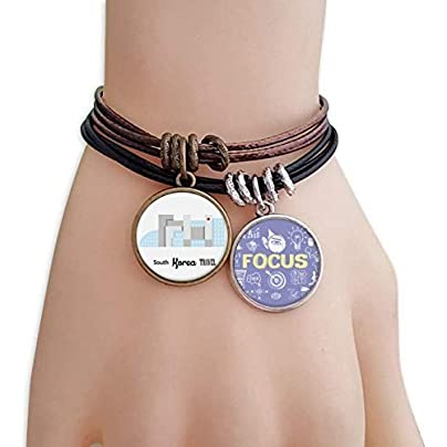 master DIY South Korea Landmarks The Building Bracelet Rope Wristband Force Handcrafted Jewelry Estimated Price -