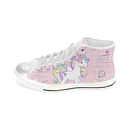 D-story Custom Bee Donna Classica Alta Alta Scarpe Di Tela Moda Sneaker Multicolore9