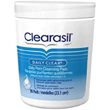 Clearasil, Daily Clear, Hydra-Blast Cleansing Pads, Won't Overdry, Salicylic Acid 1%, 90 Count