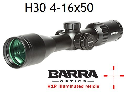 Barra BDC Reticle Capped Turrets for Hunting and Tactical Shooting