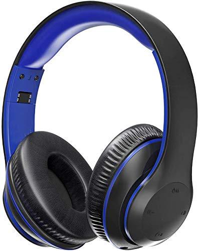 Bluetooth Kopfhörer BH028 Over Ear Headset mit leichtem Rückstellschaum Ohrpolster & Dual 40mm Treiber