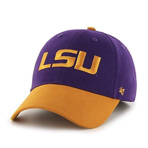NCAA Lsu Tigers Kids Short Stack '47 MVP Adjustable Hat, Infant, Purple