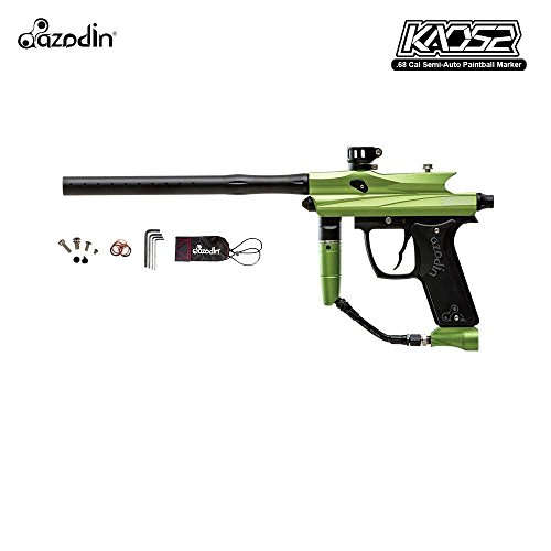 Gas Thru Grip (Azodin Kaos 2 Paintball Gun Package - Green / Black)