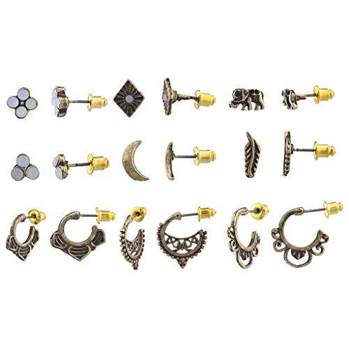 Half Hoop Earring Set - 7