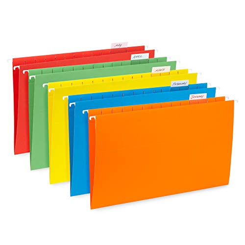 - Blue Summit Supplies Hanging File Folders, 25 Reinforced Hang Folders, Designed for Home and Office Color Coded File Organization, Legal Size, Assorted Colors, 25 Pack
