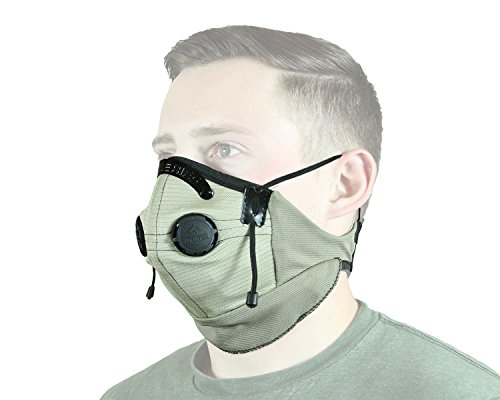 ATV Tek Pro Series Rider Filtered Dust Mask (Tan/Black, Universal)