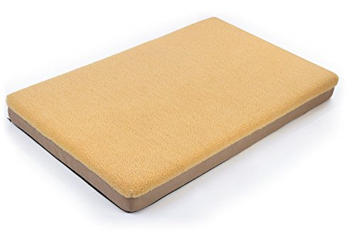 Large Memory Foam Orthopedic Dog Bed, With Fleece Top, Slip Proof Base, 4 Inch Thickness, Length 41.5 Inches x Width 25.5 Inches, Size: Large